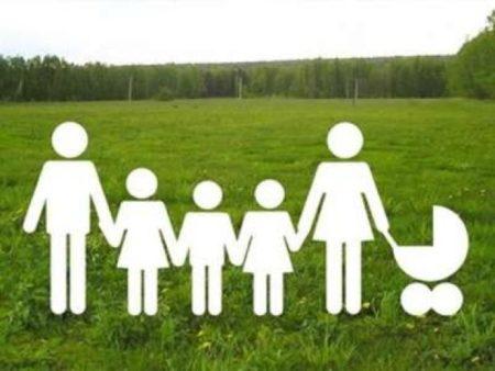 Очередь на землю многодетным семьям