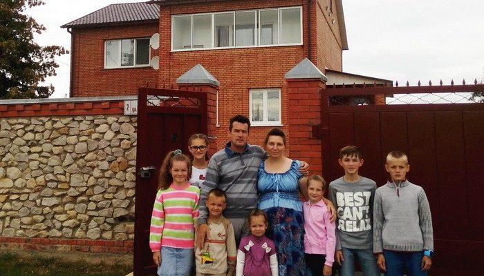 Участок с домом многодетной семьи